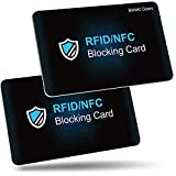RFID de Blocker Bloqueo [2 Piezas],Befekt Gears RFID Tarjeta de Protección, Protectores de Tarjetas de Crédito - Ofrezca Protección Completa para Tarjetas de Crédito, Billetera, Débito, Pasaporte etc.