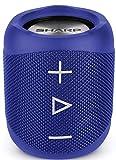 Sharp GX-BT180(BL) - Altavoz Bluetooth portátil 14 W estéreo, bajos profundos, hasta 10 horas, recargable, impermeable IP56, micrófono para llamadas, con Voice Assistant, azul